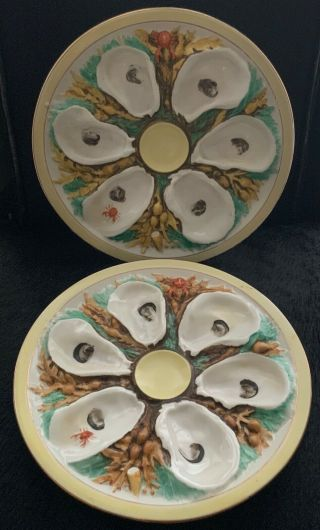 Rare 19th.  Century Antique Union Porcelain (upw) Oyster Dishes