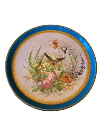 Antique Sevres Porcelain Hand Painted Charger