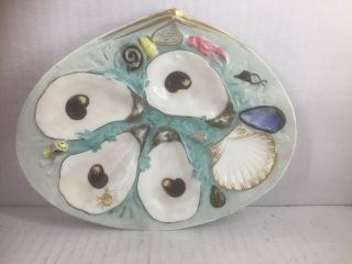 Two Antique Union Porcelain (upw) Oyster Plates Tiffany & Co.