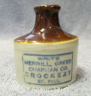 Vintage Antique Write Merrill Greer Chapman Co Crockery St Paul - Red Wing Crock