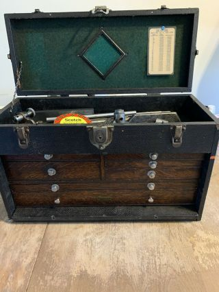 Time Capsule Vintage H Gerstner & Sons Machinist Chest,  7 Drawers With Tools