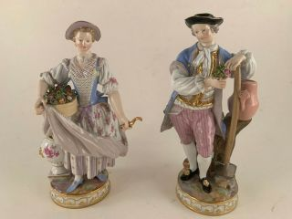 A Meissen Porcelain Figures Of Gardeners,  Late 19th C.