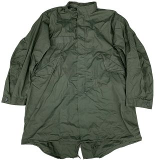 Vtg Us Army M65 Fish Tail Parka With Liner.  1974 Late War.  Vtg.  Small Reg