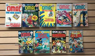 Omac 1 - 7 & 1st Issue Specials By Jack Kirby.  1974.  $160.  00 Value.  Only $24.  95