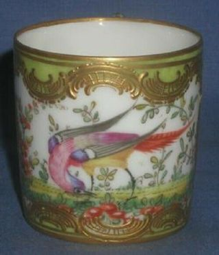 Antique Early 19thc.  English Chelsea Tea Cup W/ Tropical Bird Motif No Damage