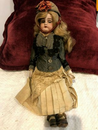"Antique Rare 15 "" Handwerck Bisque German Doll 1900"