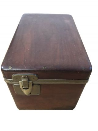 Antique Louis Vuitton Rare Mahogany Motoring Trunk Circa 1900