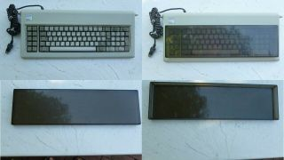 Vintage Ibm 5150 Pc Keyboard With Glass Case