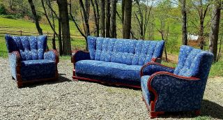 Antique Sofa And Chairs.  Art Deco Style From Scandinavia.  Very Well Constructed.
