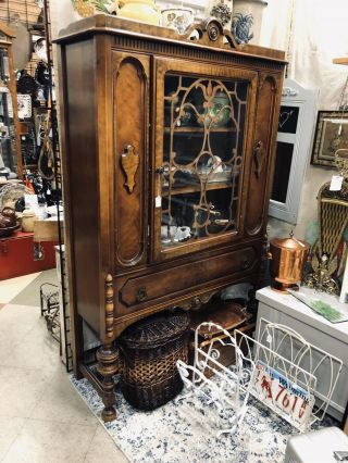 C1800 China,  Antique,  Chest,  Display,  Dining Room Cabinet.