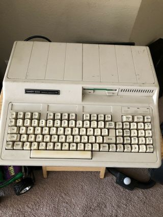Vintage Tandy 1000 Hx Personal Computer Model 25 - 1053a No Monitor Power