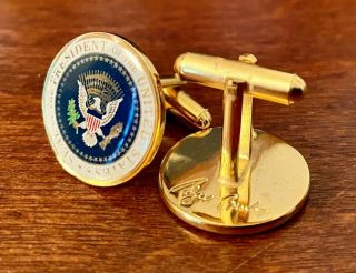 The Authentic President George W.  Bush - 43 - Full Color Presidential Cufflinks