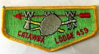 "Catawba Lodge 459 Bsa Boy Scouts Of America Badges Patches Www 4 ½ "" X 2 """
