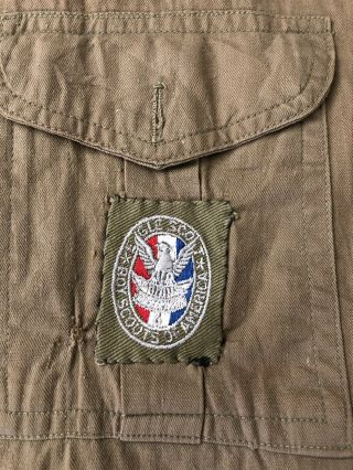 1930s - 40s Boy Scout Shirt w/Eagle scout type 2 Patch & Washington DC TRS Patch 2
