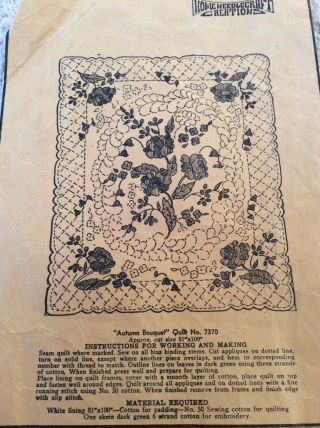 Vintage Home Needlecraft Creations Appliqué Quilt Top Kit: Autumn Bouquet