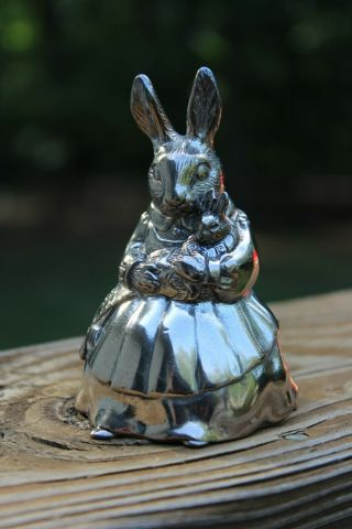 Royal Doulton Bunnykins Mother Rabbit And Baby Silver Plated Music Box