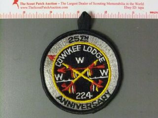 Boy Scout Oa 224 Cowikee Round 7455jj