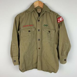 Vtg 30s 40s Boys Scout Of America Bsa Sweet Orr Uniform Shirt W/ Be Prepared Pin