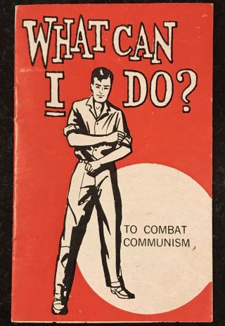 What Can I Do ? To Combat Communism Vintage Very Rare 1960's Booklet