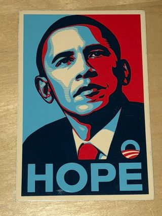 Barack Obama Hope 2008 Shepard Fairey Art Sticker President Campaign Usa Obey