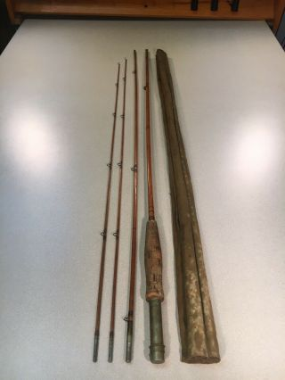 Vintage Fly Rod Goodwin Granger Denver Special Bamboo 3pc2 Tips As Found
