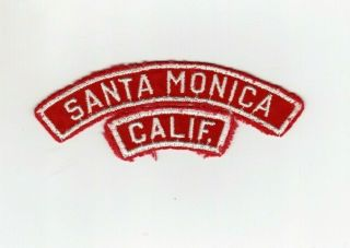Boy Scouts Csp Red And White Rws Shoulder Santa Monica Calif.  Patch