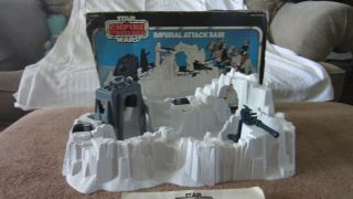 Star Wars Vintage Complete Imperial Attack Base Playset W/box And Instructions