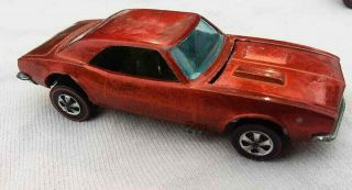 Orange Custom Camaro Redline Hot Wheels Vintage Red Lines