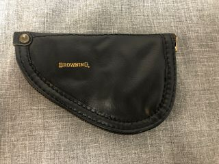 Factory Baby Browning.  25 Acp Black Red Felt Vintage Pistol Pouch/ Case