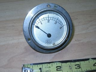 Vintage Us Gauge Co Auto Dash Board Gauge Nickel Plated Patented 1906 & 1912