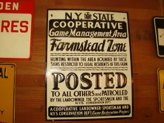 N.  Y.  State Cooperative Game Management Area Sign