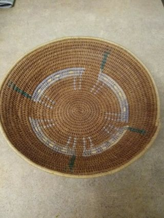 """Southern California Mission Cahuilla C1900 Indian Basketry Bowl 8 """" 3/4"""