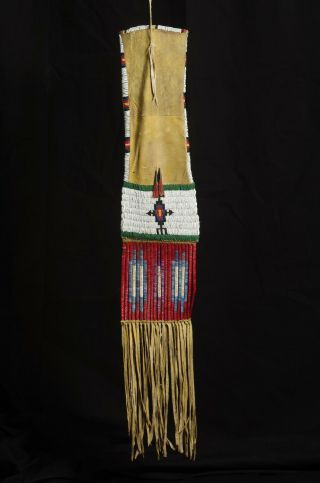 Beaded And Quilled Hide Pipe Bag - Lakota Sioux - 1870 - 1890