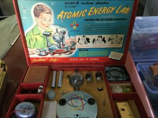 Gilbert Atomic Energy Lab U - 238 In Case Space Age Check Photos Descript