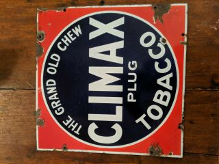 Climax Plug Tobacco Porcelain Sign