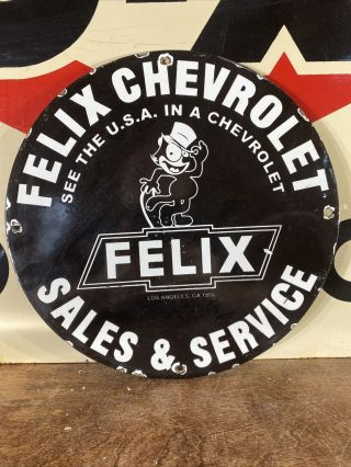58 Vintage Style  Chevrolet  Sales And Service Porcelain 12 Inches Pump Plate