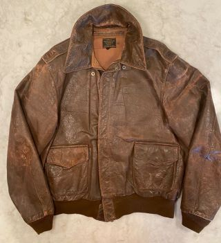 Wwii A - 2 Flight Jacket With Blood Chit From Cbi C - 87 Pilot Capt.  Carl Triest