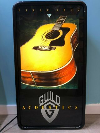 Guild Acoustics Guitar Advertising Lighted Sign Music Store Display Tecart