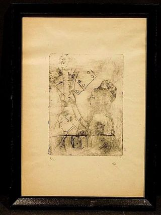 Odilon Redon Signed Numbered 7/30 Lithograph C.  1898