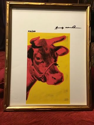 Andy Warhol - Hand Signed - Lithograph Print With