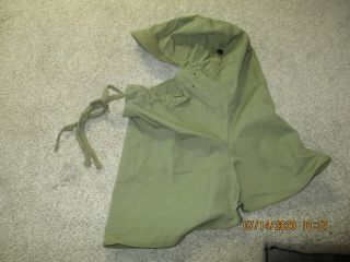 Wwii 1943 Light Green Colored Hood,  Cloth Made For Army/marine Troops