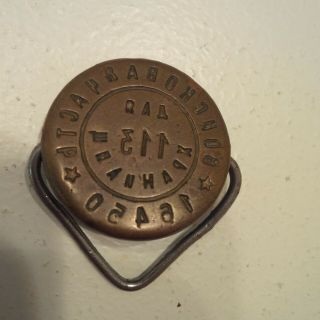 Ussr Soviet Military Unit 16450 Wax Seal Stamp For Depots.
