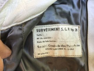 French Efa High Altitude Flight Suit