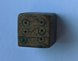 Very Rare Ancient Roman Carved Gaming Piece Astragalus Top 200 - 300 Ad