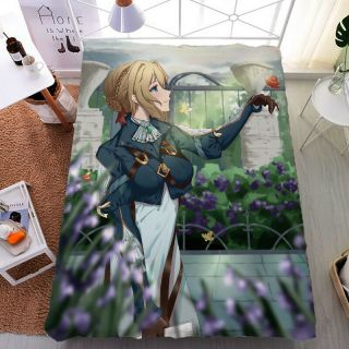 Anime Violet Evergarden Otaku Double - Bed King Size Bed Sheet Gift 59 79  Jh17