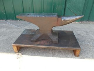154 Lb Hay Budden Blacksmith Anvil Metal Forging Shop Tool Pick Up Only