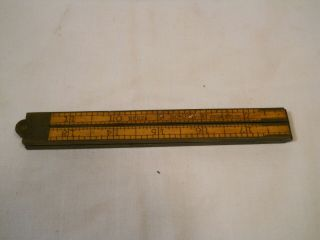 Upson Nut Co 24 Inch Ruler No 62 1/2 Boxwood And Brass