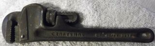"""Vintage 8 """" Inch Heavy Duty Craftsman Pipe Wrench Guaranteed 5567,  Adjustable Tool"""