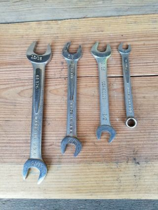 Easco Wrenches,  Three Open End,  One Combination,  Vintage,  Industrial