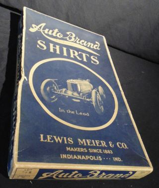 Auto Brand Shirts Antique Box 100 Years Old Lewis Meier & Co.  Hot Rod Fashion